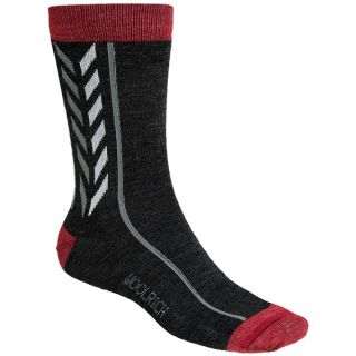 Woolrich Vintage Stripe Socks   Lightweight  Crew (For Men)   BLACK (L/XL )