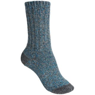 Merrell Beckontree Ragg Hiking Socks   Wool Blend (For Women)   CHARCOAL/OPEN BLUE HEATHER (L )