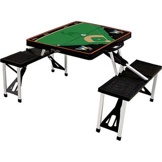 Picnic Table Sport   MLB Teams Miami Marlins   Black   Picnic Time O